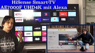 HiSense AE7000F Smart-Tv mit UHD 4K und Alexa Sprachsteuerung kurz vorgestellt