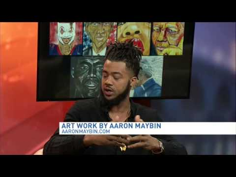 Larry interviews artist Aaron Maybin