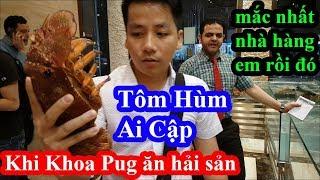 Chủ tịch quần đùi Khoa Pug ăn tôm hùm mắc nhất nhà hàng như mua bó rau làm người Ai Cập trầm trồ