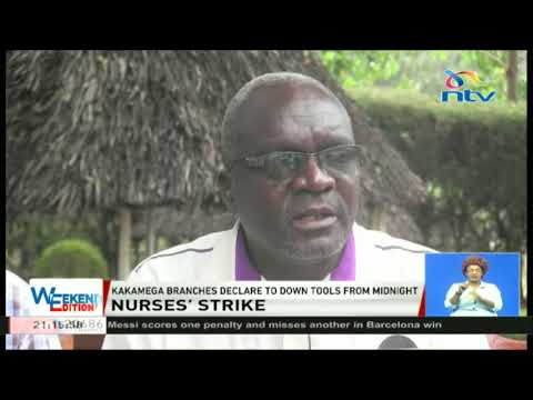 Nurses' in Kakamega declare to down tools