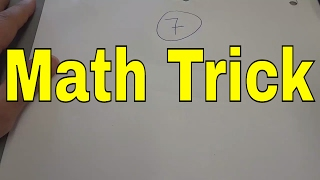 7 Times Table Trick-EASY Math Multiplication Trick