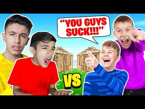 Trash Talkers Make My Brother Mini Mamba Rage In Fortnite Box Fights! (видео)