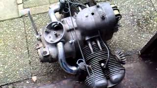 Bmw R69s engine with kayser cilinders running