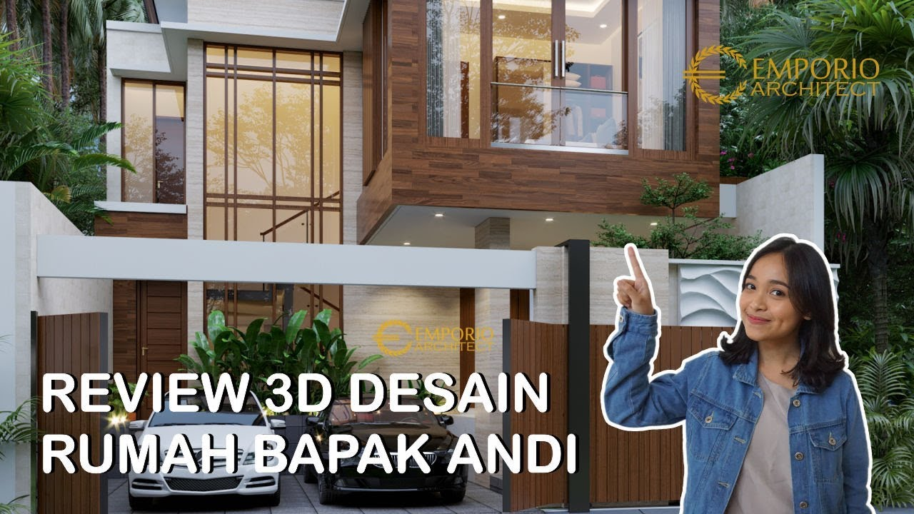 Video 3D Mr. Andi Modern House 2 Floors Design - Surabaya