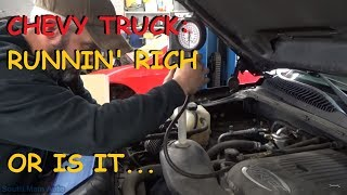 Chevrolet Silverado - P0172 P0175 Running Rich