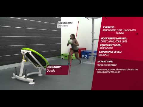 Video Fitness First Freestyle exercise - Rebounder Jump Lunge with Throw - Medicine Ball
