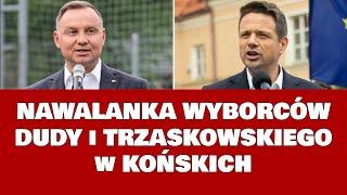 Cyrk w Końskich – Awantura wyborców Dudy z wyborcami Trzaskowskiego