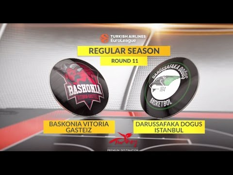 EuroLeague Highlights RS Round 11: Baskonia Vitoria Gasteiz 73-52 Darussafaka Dogus Istanbul