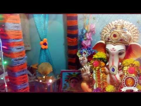 Sachin Badkar Home Ganpati Decoration Video