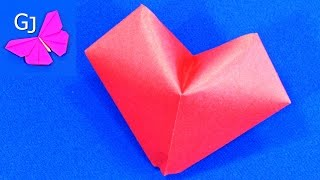 Оригами из бумаги ❤️ Объемная Валентинка Сердце