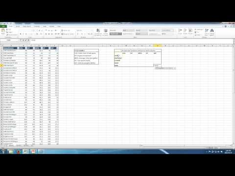 Working with mathematical functions in excel