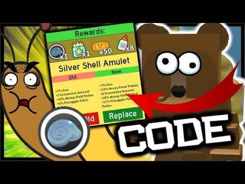 New Code Silver Stump Snail Amulet Roblox Bee Swarm