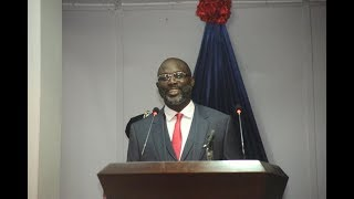 Liberia's President George Weah Delivers First Annual State Of The Nation Address