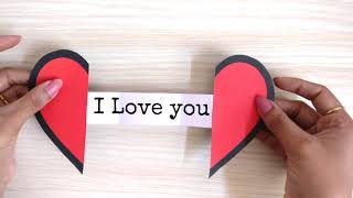 Paper Heart With Message | DIY Paper Heart | Greeting Card | Love Message Card