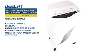 Industrial Paper Shredder - P4 - 29L - Rating Capacity 4*40mm