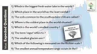 GK || WORLD GEOGRAPHY || Most Important Questions for All Competative Exams ||