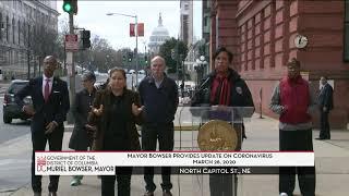 Mayor Bowser Provides Update on Coronavirus, 3/26/20