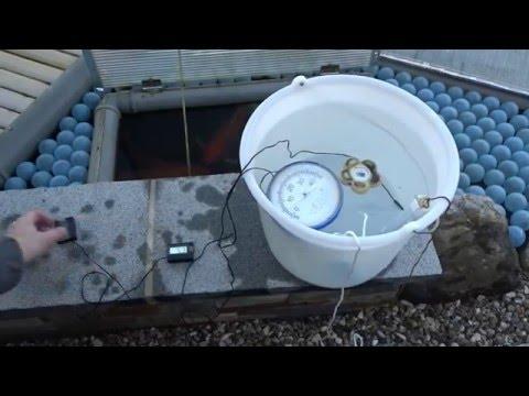 ACHTUNG - Teichtemperatur und Thermometer
