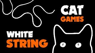 WHITE STRING thing for cats ★ CAT GAMES