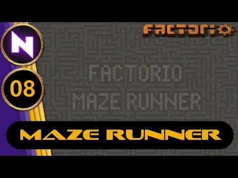 Factorio Maze Runner #8 GETTING ON TRACK