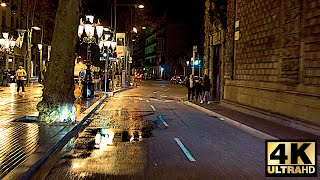 Barcelona In 4K - Night Drive - Spain