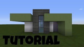 Minecraft Modernes Haus Mit Wintergarten Braunweiß Bauen Tutorial - Minecraft haus bauen deutsch tutorial