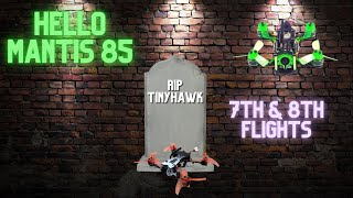 Fpv Fail Death of the TinyHawk Hello Mantis 85 - Beginner Fpv freestyle