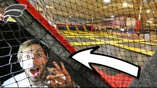 SNEAKING UNDERNEATH TRAMPOLINE PARK