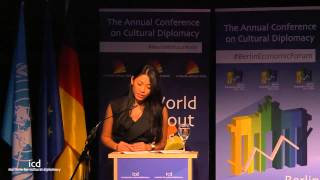Anggun at the congress A World without Walls 2014 in Berlin (9th November 2014)