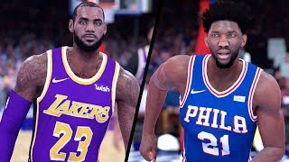 NBA 2K19 - Los Angeles Lakers vs. Philadelphia 76ers - Full Gameplay (Updated Rosters)