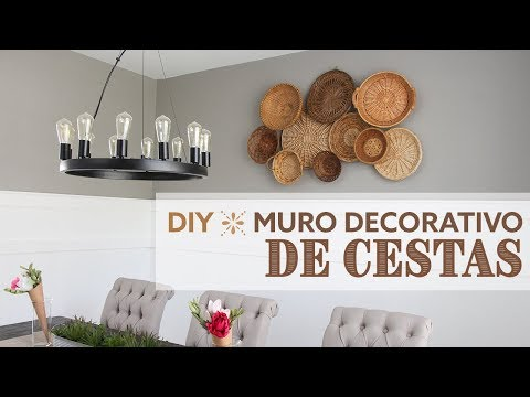DIY Decorative Wall Baskets | Mural de Cestas