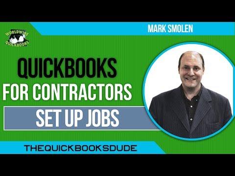 QuickBooks For Contractors - Set Up Jobs