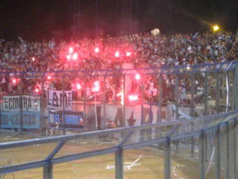 """Salida de La Fiel del Norte...Iquique vs Cobreloa (Noche Celeste 2010)"" Barra: Furia Celeste • Club: Deportes Iquique"