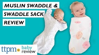 Muslin Swaddle and Swaddle Sack Baby Gear Review from Amazing Baby