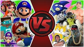SMG4 vs MLG TOTAL WAR! (Sanic vs SMG4 Animation) | Cartoon Fight Club Episode 305