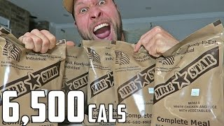 US Military MRE (Meal Ready To Eat) Challenge! (6,500+ Calories)