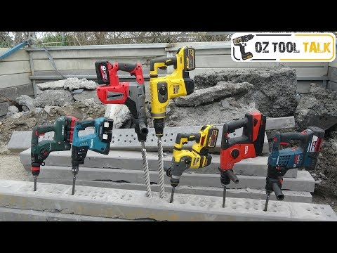 PREMIUM Battery SDS Hammer Drill Shoot-out – Dewalt, Bosch, Makita, Metabo, Milwaukee, Hilti