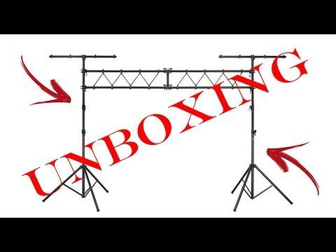Unboxing STATIVO per LUCI da DISCOTECA (Auna LTS-209ALS)