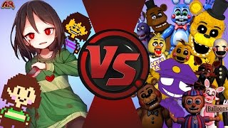 CHARA vs FIVE NIGHTS AT FREDDY'S! (Undertale vs FNAF 2) FINAL FACE-OFF! Cartoon Fight Club 139