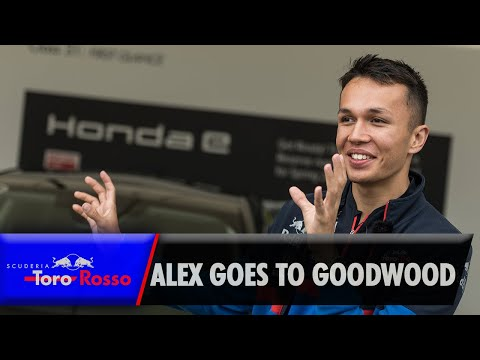 Image: WATCH: Alex Albon visits Goodwood Festival of Speed with Honda