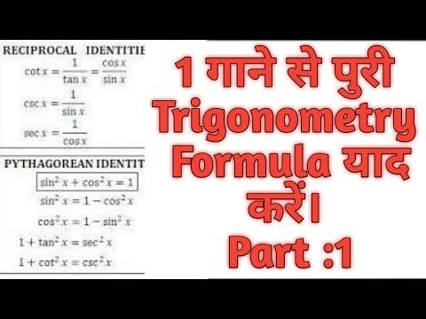 Trigonometry Formula Learning Trick Part 1