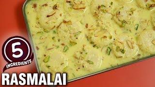 5 Ingredients Recipe - Quick & Easy Rasmalai Recipe - Indian Dessert  - Varun