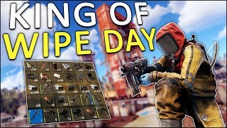 The CROSSBOW made me KING of WIPE DAY! - Rust Solo #1