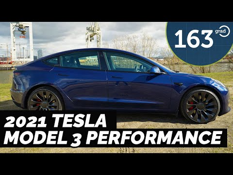 2021 Tesla Model 3 Performance Blau Uberturbine - die ersten Eindrücke | 163 Grad