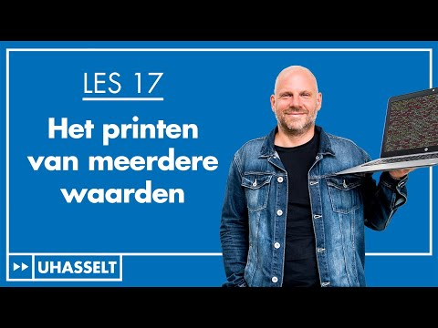 Meerdere waarden printen + Python User Manual