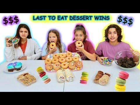 LAST TO STOP EATING DESSERT WINS $200.00 DOLLARS | SISTER FOREVER