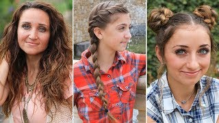 3 Easy Back-to-School Hairstyles   DIY Hairstyles Compilation 2019