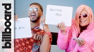 Karol G & Anuel Aa Play 'how Well Do You Know Each Other?'  Billboard