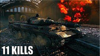 Т-100 ЛТ на ГОРОДСКОЙ карте 11 ФРАГОВ 🌟 World of Tanks лучший бой лт 10