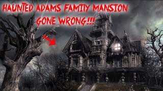HAUNTED ABANDONED ADDAMS FAMILY MANSION IN THE WOODS GONE WRONG!! HE GOT HURT | MOE SARGI